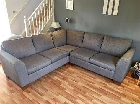 Ms Urbino Fabric Corner Sofa For Sale Grey Colour