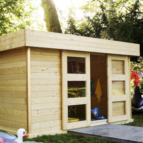 Abris Jardin Toit Plat Leroy Merlin abri de jardin en bois stockholm 2 11 39 m 178 233 p 28 mm