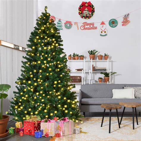 costway ftftft pre lit pvc artificial christmas