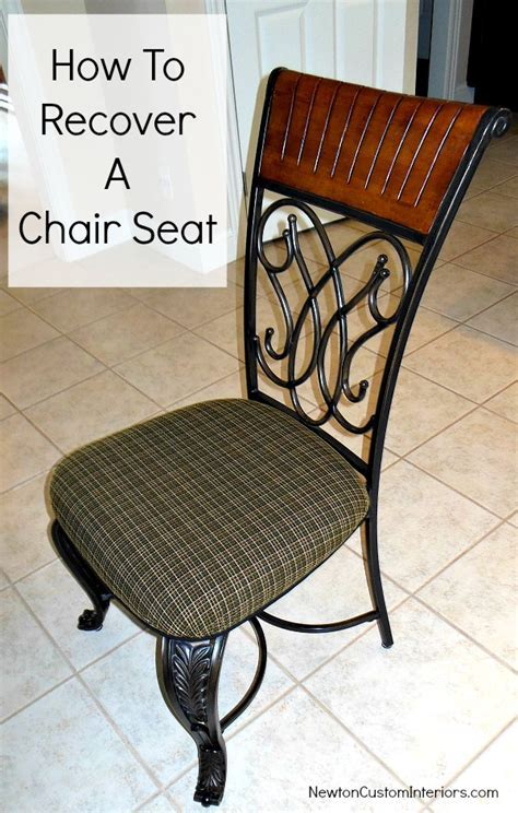 How To Recover A Chair Seat   Newton Custom Interiors