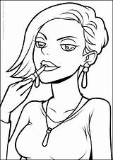 Trucchi Machiaj Schminke Desene Animate Drucken sketch template