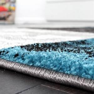 Teppich Türkis Grau : designer teppich modern mit konturenschnitt karo muster marmor optik grau t rkis teppiche ~ Markanthonyermac.com Haus und Dekorationen