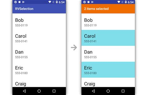 add multiple selection  android recyclerview