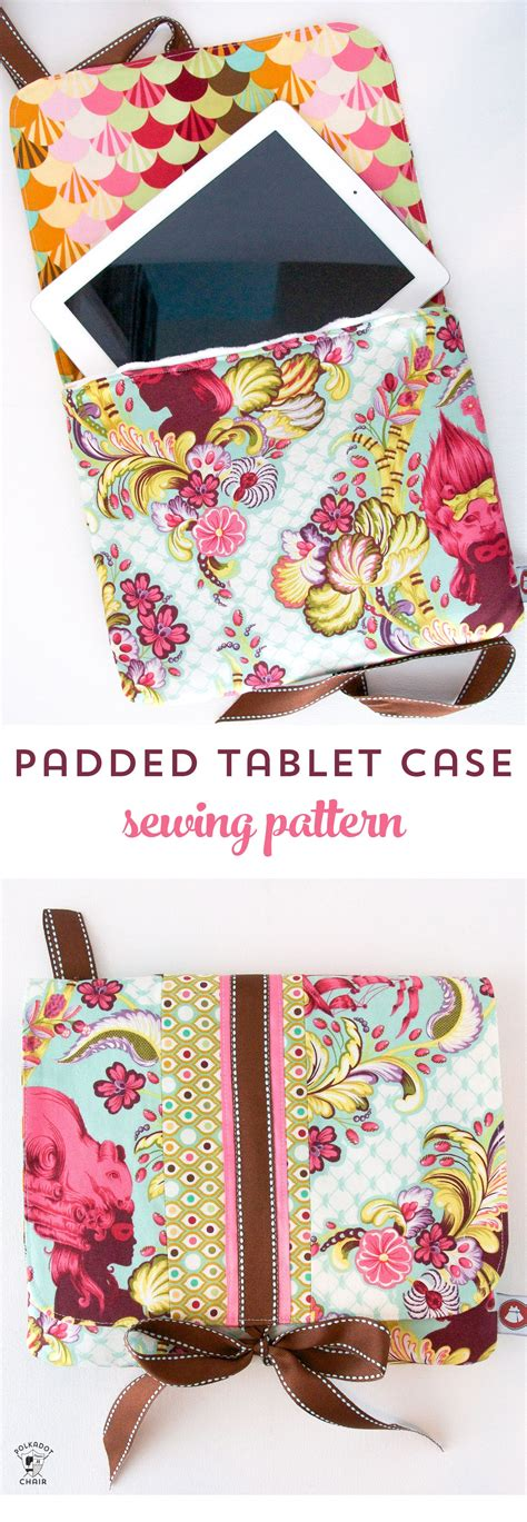 tech sewing  padded ipad case sewing pattern