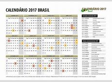 Calendário 2017 do Brasil com Feriados para Imprimir