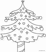 Coloring Tree Christmas Pages Printable Blank Cool2bkids Getcolorings Getdrawings Drawing sketch template