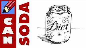 How to draw a soda can Real Easy - YouTube