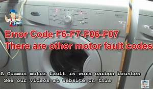 Whirlpool Awo  D  U0026 Awd Series Washing Machine Error Fault Codes