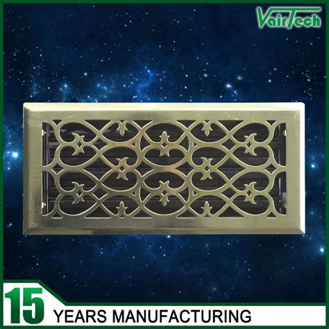 hvac system decorative return air wrought iron wall grill