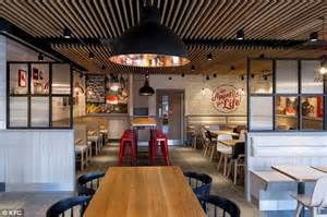 ideas for kitchen diners kfc unveils new store designs featuring brick walls