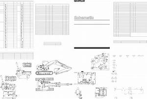 313b Excavator Electrical Schematic Used In Service Manual Renr4000