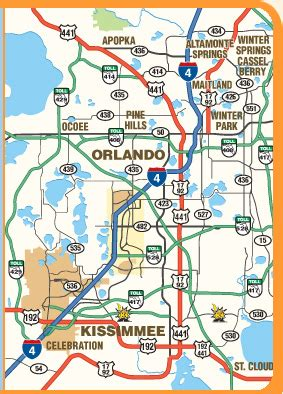map  orlando  kissimmee florida