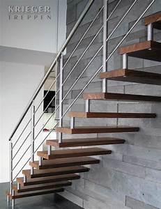Handlauf Für Treppe : bolzentreppen von krieger treppen ~ Michelbontemps.com Haus und Dekorationen
