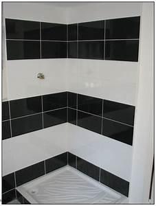 Salle De Bain Carrelage Noir : carrelage salle de bain noir et blanc inspirations avec ~ Dailycaller-alerts.com Idées de Décoration