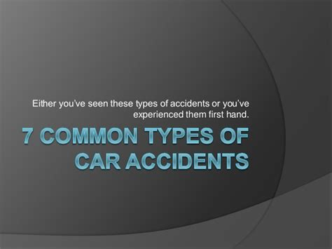 7 Common Types Of Car Accidents