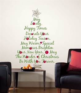 Christmas tree quote giant stickers for wall rmk gm
