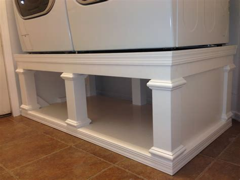 pedestal for washer and dryer white s washer dryer pedestal diy projects