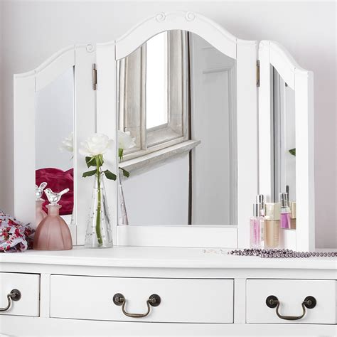white desk with mirror shabby chic white dressing table mirror bedroom