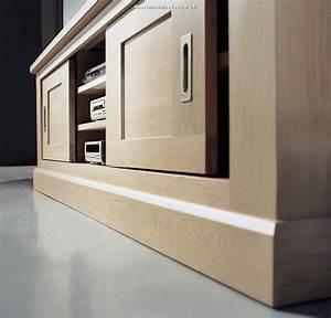 Meuble Tv Bois Massif Moderne : meuble tv ch ne massif meuble t l vision en bois moderne meuble tv en ch ne naturel ~ Teatrodelosmanantiales.com Idées de Décoration