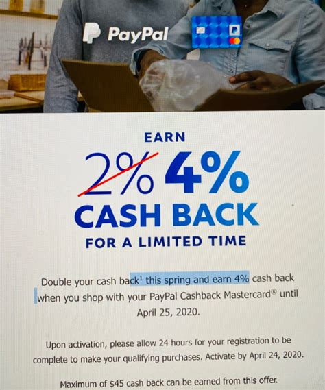 Your activity will be reported to the three major credit bureaus so if you use the card wisely. Expired Targeted PayPal/eBay Cashback Mastercard: 4% ...
