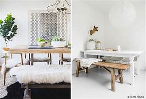 un banc dans la maison mademoiselle claudine le blog With deco cuisine avec banc salle a manger