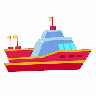 Clipart Animated Boat Water Transparent Gifs Waves