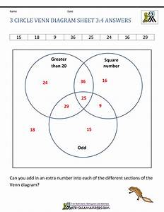 Venn Diagram Worksheet With Answers