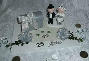 Geldgeschenk Gutschein Silberhochzeit Brautpaar