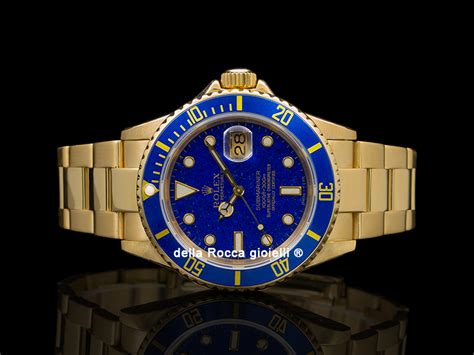 Rolex Submariner Date 16618 Oyster Bracelet Lapis-Lazuli ...