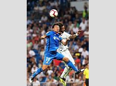 Real Madrid 20 Getafe Dani Carvajal and Gareth Bale on