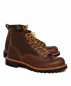 Red Wing Shoes France : lyst brooks brothers red wing for 2936 lineman boots in brown for men ~ Melissatoandfro.com Idées de Décoration