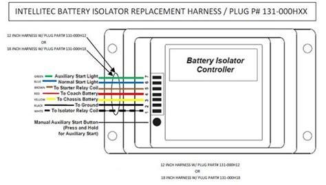 intellitec battery isolator control harness plug 131 000hxx pdxrvwholesale