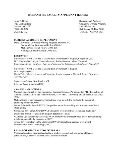 exle resume exle cv md phd