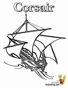 High Seas Pirate Ship Coloring Pages | Pirate Ship | Free ...
