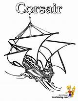 Ship Coloring Pages Pirate Boat Tall Drawing Printable Sailing Corsair Pirates Easy Toy Ships Boats Seas Yescoloring Getdrawings Boys sketch template