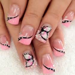 Butterfly nail art for beginners : Cute pink nail art designs for beginners