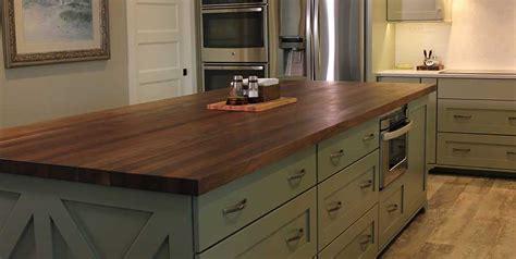 kitchen island tops black walnut kitchen island mcclure block butcher block