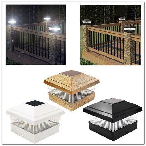 solar deck cap lights solar powered deck post cap lights decks home