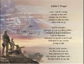 A Marines Poem the Soldier Prayer