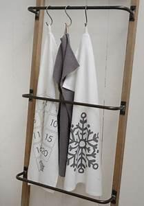 Echelle Porte Vetement : echelle porte serviettes en m tal et bois 4 niveaux pourvue de 4 barreaux en m tal pour faire ~ Nature-et-papiers.com Idées de Décoration