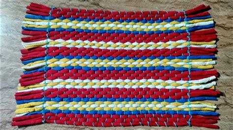Make A Doormat by How To Make Rug Carpet Table Mat Door Mat Using T