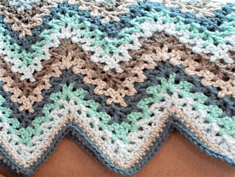 autumn throw blanket v stitch crochet ripple afghan pattern petals to picots