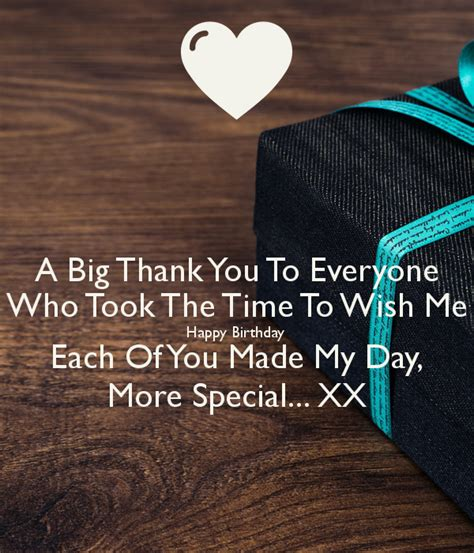 9 times you wished big a big thank you to everyone who took the time to wish me