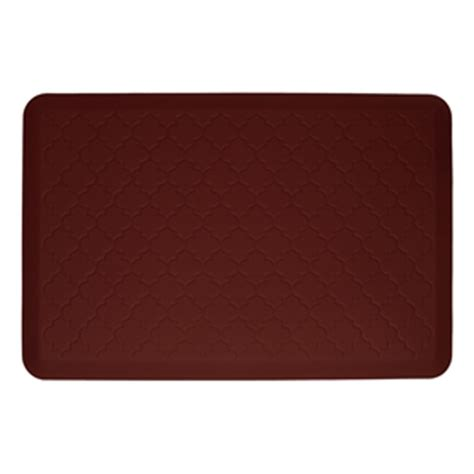 cushioned kitchen floor mats wellnessmats cushioned kitchen floor mat burgundy
