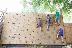 backyard rock climbing wall garage gym reviews With how do rock climbers go to the bathroom