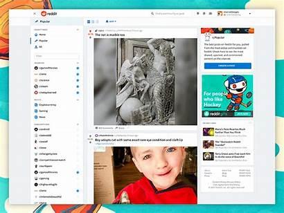 Reddit Redesign Dribbble Save Shots Interface