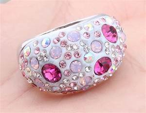 jewelry womens colorful rhinestone mushroom wedding With rhinestone wedding rings