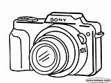 Coloring Camera Drawing Pages Cameras Clipart Digital Sony Easy Simple Printable Canon Drawings Nikon Dibujo Kidopo Colouring Google Cliparts Crafts sketch template