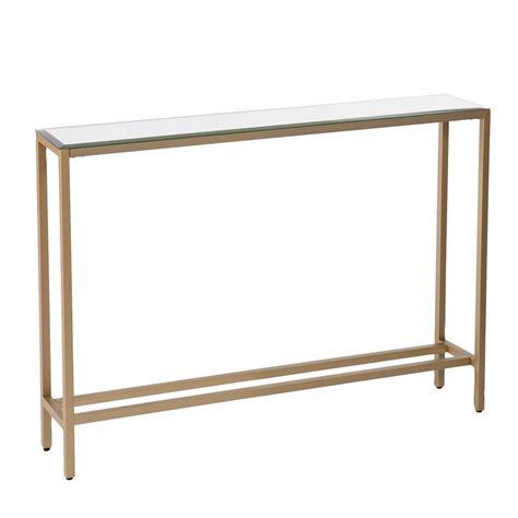 Narrow Sofa Table by Southern Enterprises Rakin Gold Narrow Console Table With
