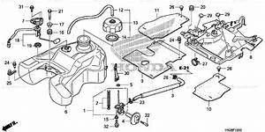 Honda Atv 2009 Oem Parts Diagram For Fuel Tank